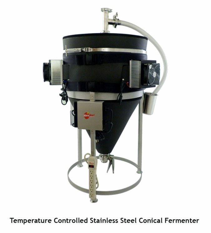 Save $450 On A MoreBeer Stainless Steel Temperature Controlled Fermenter! #stainless #steel #homebrewing #home #brewing #homebrew #conical #fermenter #fermentor #temperature #controlled #morebeer #more #beer