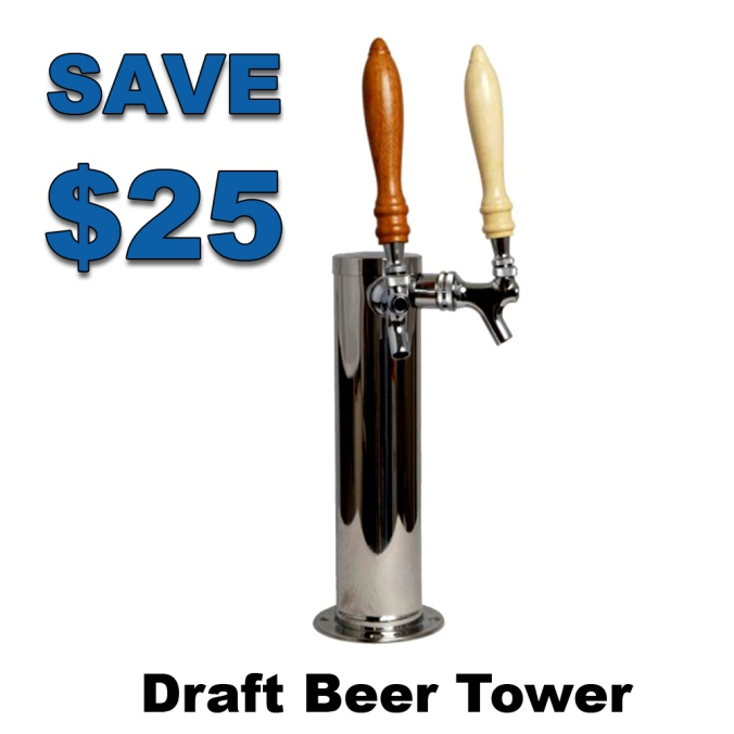 Save $25 On A 2 Tap Draft Beer Tower #beer #draft #tower #2 #post