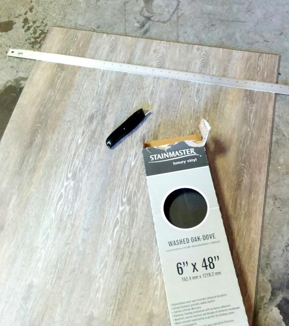 Vinyl Fake Wood Flooring for my Kegerator Door