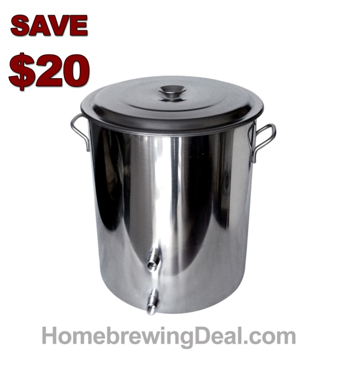 Save an Extra $20 On A 14 Gallon Stainless Steel Home Brewing Kettle With Two 1/2 Ports #stainless #steel #brew #kettle #gallon #ss #brewing #homebrew #homebrewing #sale #best #price #morebeer