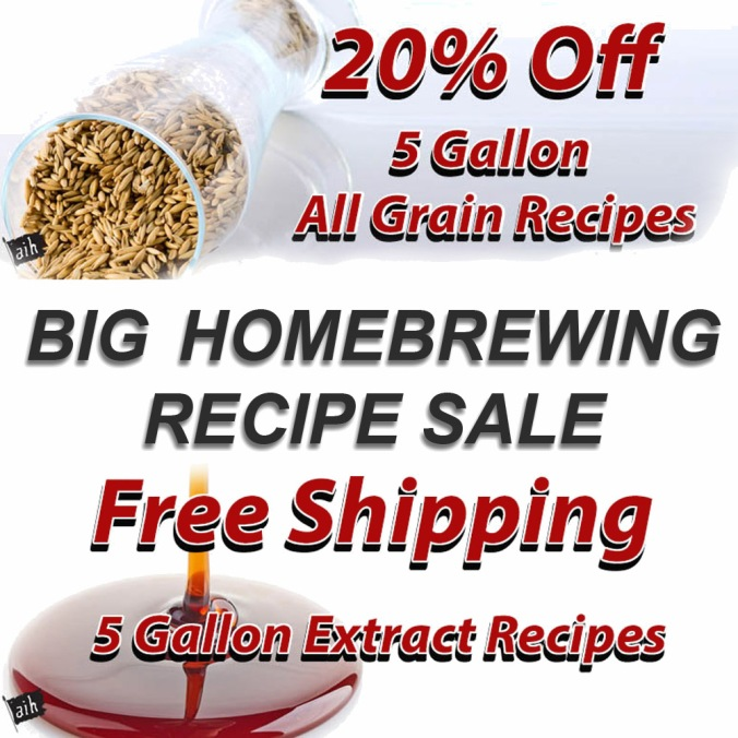 Save 20% On All Grain Beer Kits or Get Free Shipping on Extract Homebrewing Kits! #homebrew #homebrewing #beer #kit #sale #deal