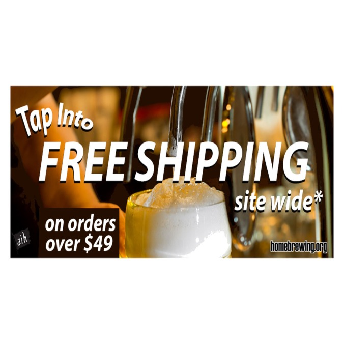 Get Free Shipping at Adventures In Homebrewing on Orders Over $49! #homebrew #adventures #adventursinhomebrewing #free #shipping #adventures #in #home #brew #brewing