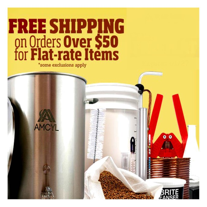 Get Free Shipping On Order Over $50 at HomebrewSupply.com #homebrewsupply #promo #coupon #code #deal #homebrew #supply #homebrewing #home #brew