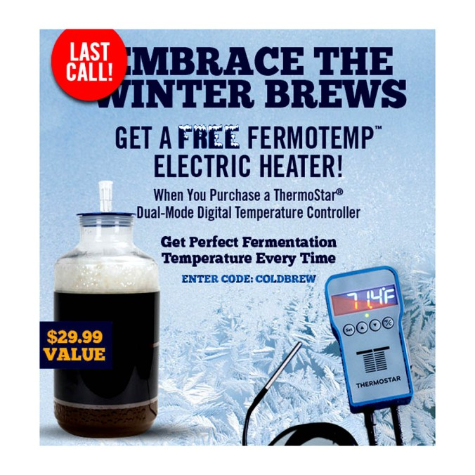 Get A Free Fermotemp with Purchase of a Thermostar NorthernBrewer.com Coupon #promo #code #coupon #northern #brewer #nothernbrewer #temperature #controller #fermotemp #thermostar