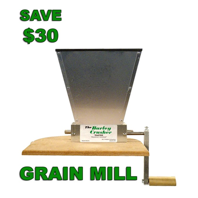 Save $30 on a More Beer Barley Crusher Grain Mill with Promo Code #homebrew #homebrewing #grain #mill #chrusher #home #brewing #brewer