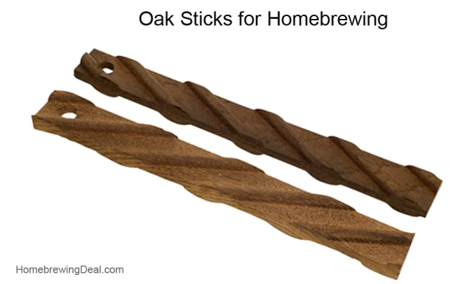 Adding oak to your home brewed beer #homebrew #homebrewing #home #brewing #oak #stick #cube #chips