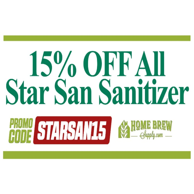 Save 15% On Star San Home Brewing Sanitization Products #homebrew #santitzer #sanitization #home #brew #brewing #homebrewing #acid #food #safe #cleaner #star #san #starsan