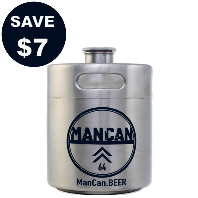 ManCan Stainless Steel Mini Keg Growler Promo Code