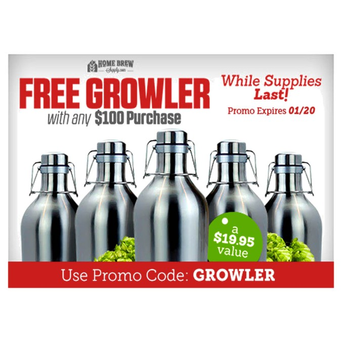 Get a Free Stainless Steel Growler with any $100 Purchase #stainless #steel #growler