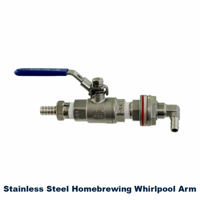 Save $7 On A Stainless Steel Home Brewing Whirlpool Arm #stainless #steel #whirlpool #whirl #pool #arm #homebrew #homebrewing #home #brewing #beer #wort #weldless