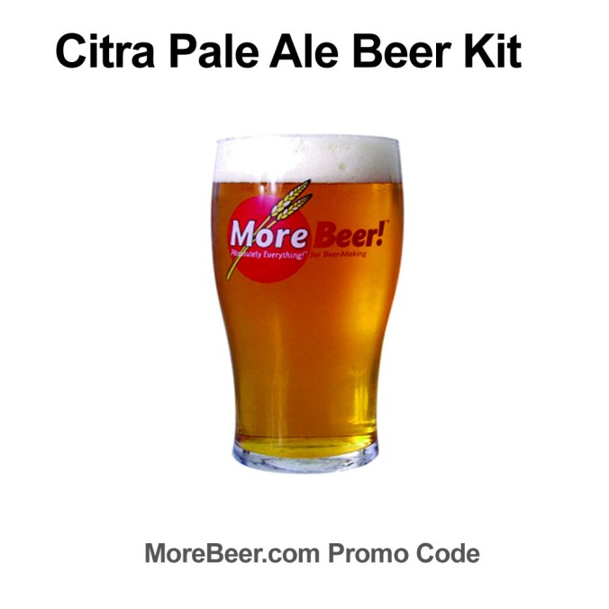 MoreBeer.com Promo Code for $7 Off A Citra Pale Ale Beer Recipe Kit