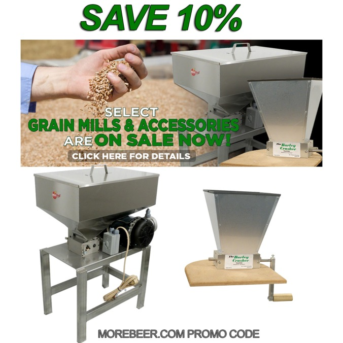 Save 10% On Grain Mill Products with this MoreBeer.com Promo Code