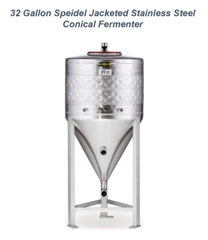 Save $250 on a Speidel 32 Gallon Stainless Steel Jacketed Conical Fermenter