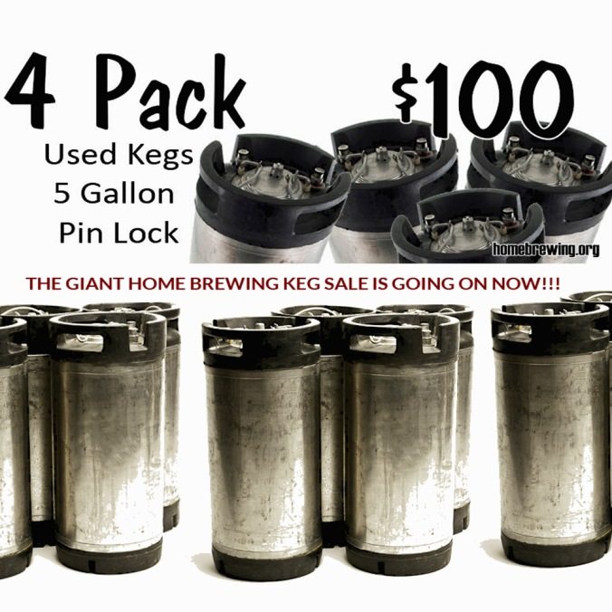 Get 4 Home Brewing 5 Gallon Kegs for Just $99