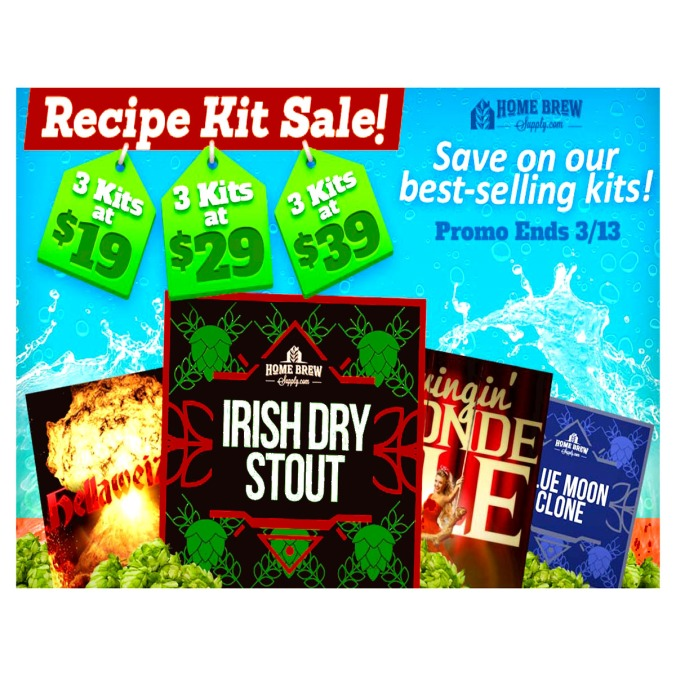 Beer Kits for as little as $19 + Get Flat Rate Shipping