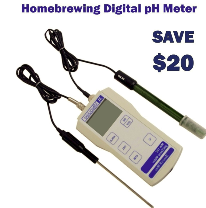 Save $20 on a Digital Homebrewing pH Test Meter #homebrew #homebrewing #ph #test #meter