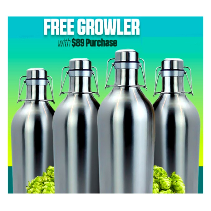 HomebrewSupply.com Promo Code for a Free Stainless Steel Beer Growler
