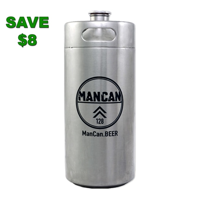 Stainless Steel Mini Keg and Growler