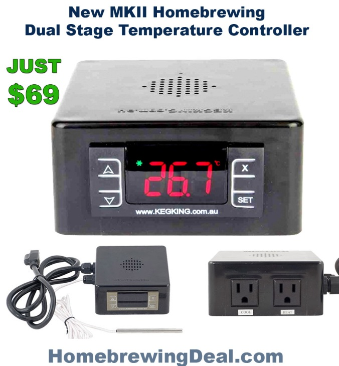MK2 Keg King Dual Stage Temperature Controller $69 + Free Shipping #homebrew #homebrewing