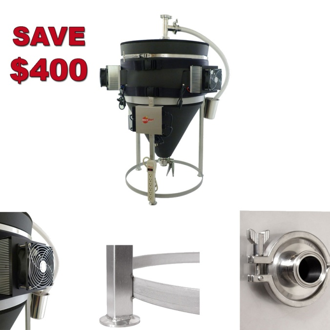 Save $400 on a More Beer Temperature Controlled Stainless Steel Conical Fermenter