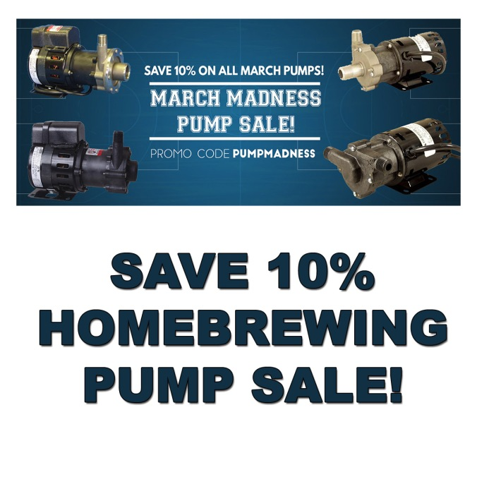 March Brewing Pumps Sale - Save 10% With This MoreBeer.com Coupon Code