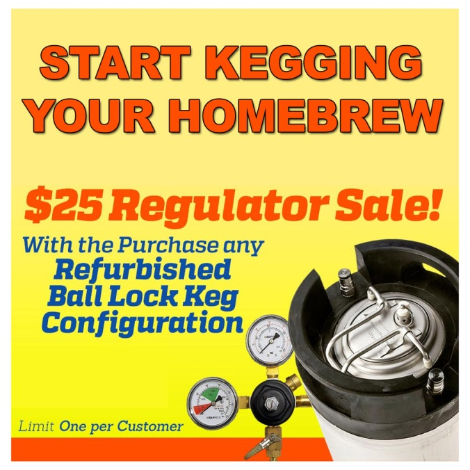 Get a New Draft Beer Regulator for $25 when you purchase a refurbished Ball Lock Keg!