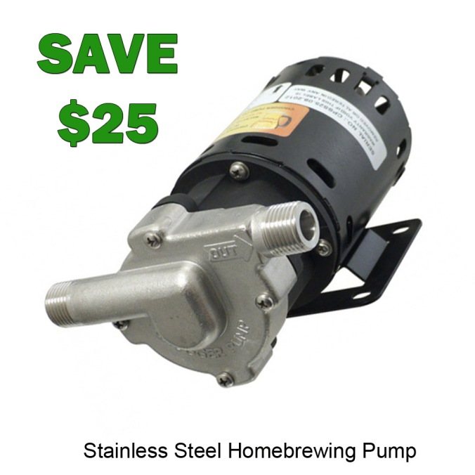 Save $25 on a Stainless Steel Chugger Pump