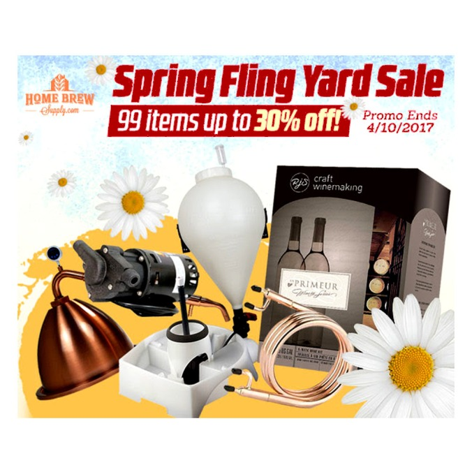 Save Up To 30% on Homebrewing Items