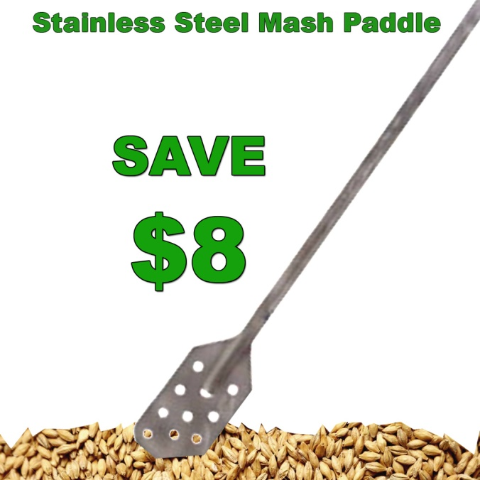 More Beer Coupon for $8 Off a Stainless Steel Mash Paddle #morebeer #promocode #coupon #promo #mash #paddle