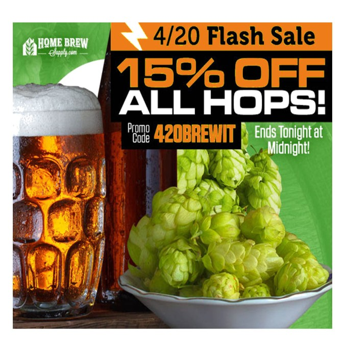 Save 15% On Hops Today Only