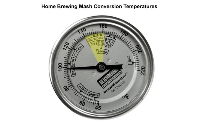 Home Brewing Mash Conversion Temperatures