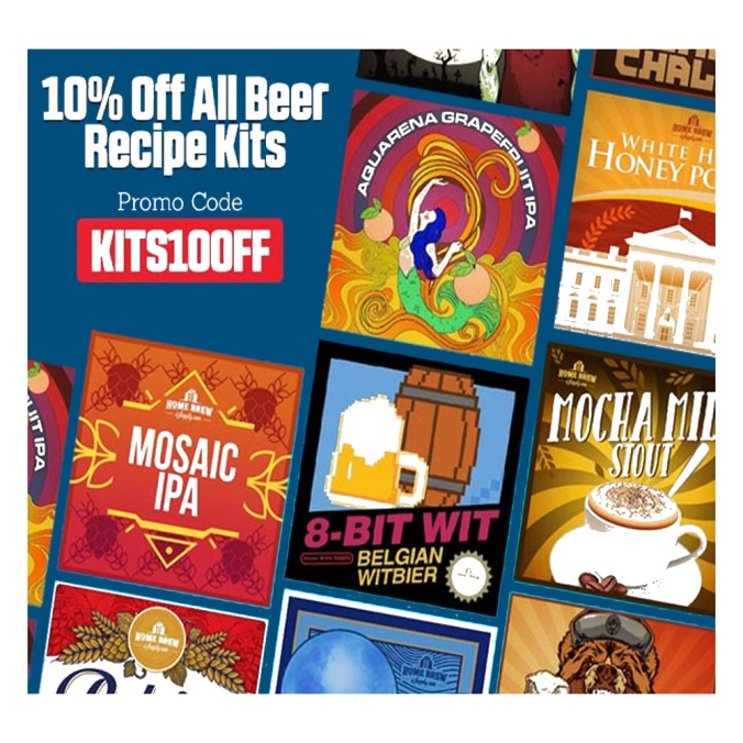 Save 10% On Your Next Home Brewing Beer Kit