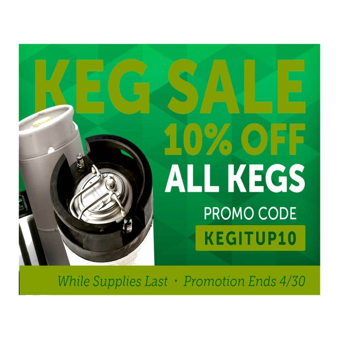 Save 10% on Home Brewing Kegs