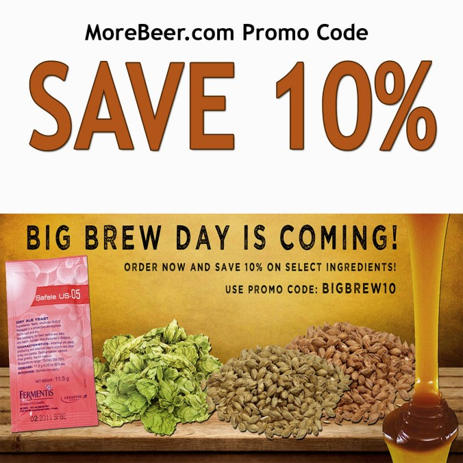 More Beer Promo Code for 10% Off Select Home Brewing Ingredients