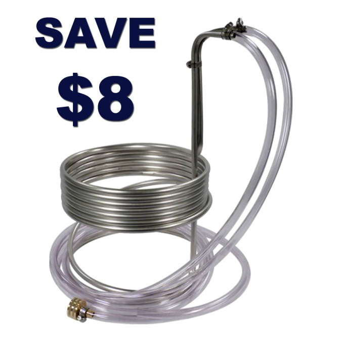 $8 Off A Stainless Steel Home Brewing Wort Chiller #homebrew #homebrewing #homebrewer #home #brew #brewing #brewer #wort #chiller
