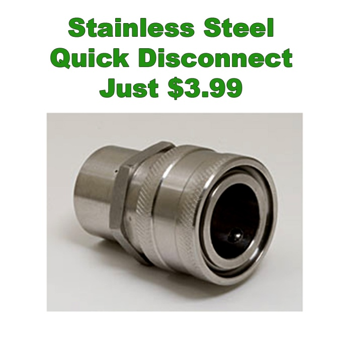 "Stainless Steel 1/2"" Quick Disconnect for $3.99"