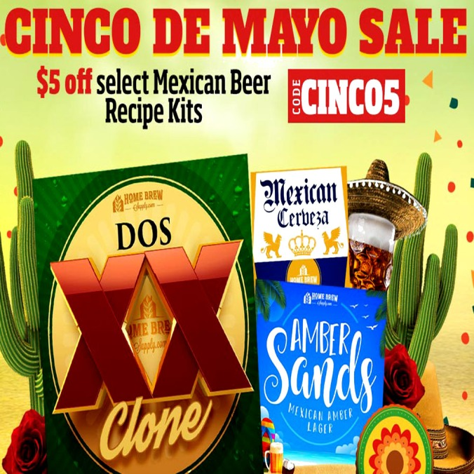 Save $5 On Select Mexican Home Brewing Beer Kits