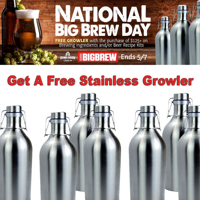 Free Stainless Steel Growler Promo Code #homebrew #homebrewing #stainless #steel #grolwer