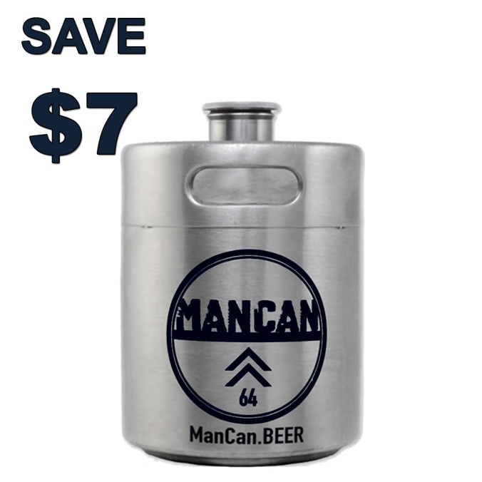 Save $7 On A Stainless Steel ManCan Growler