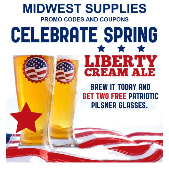 Get a Free Glass at Midwest Supplies with the purchase of a Cream Ale Beer Kit