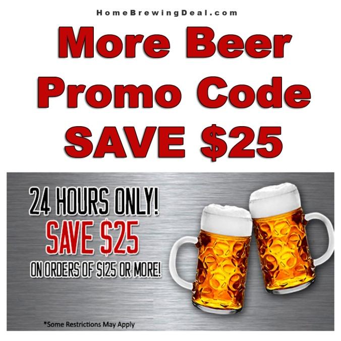 Save $25 On Your $125 Purchase MoreBeer Promo Code #promocode #morebeer