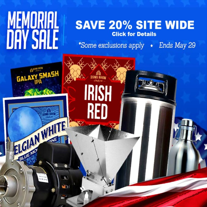 HomebrewSupply.com Promo Code for Memorial Day