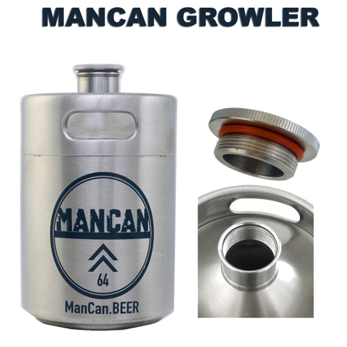 Save $6 On A Stainless Steel Man Can Mini Keg Growler