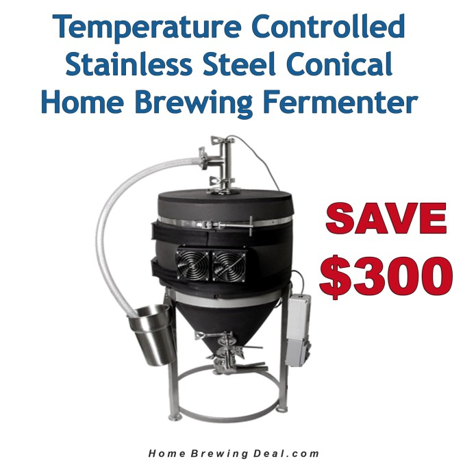 $300 Off A 14 Gallon Temperature Controlled Stainless Steel Conical Fermenter #conical #fermenter #promo #code #morebeer