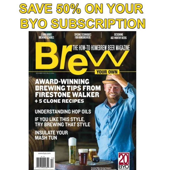 Save 50% On Your BYO Magazine Subscription