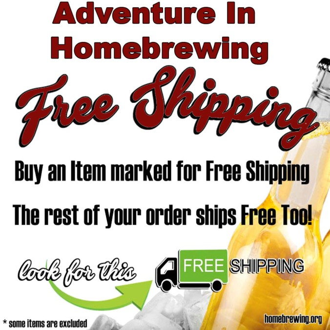 Free Shipping Promotion for Adventures in Homebrewing