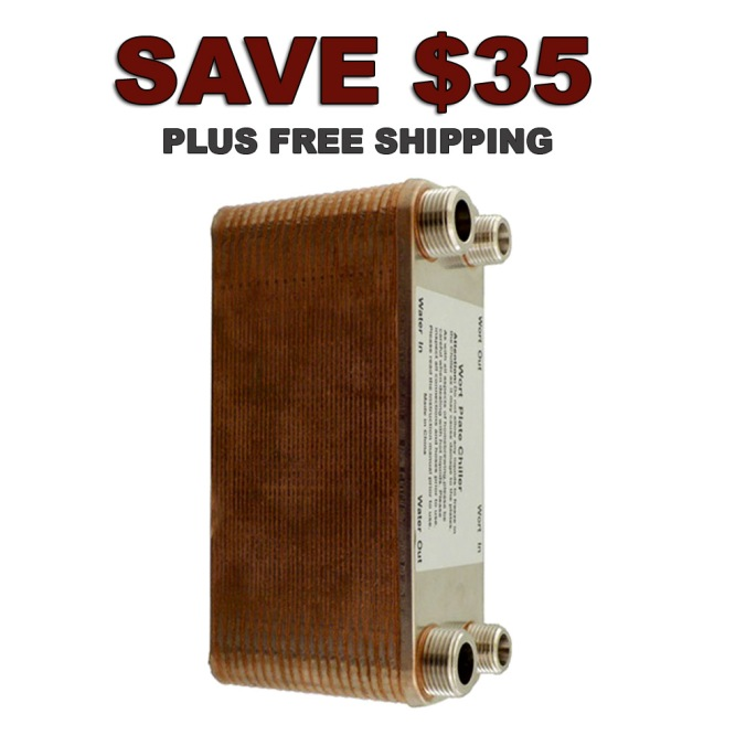 Save $35 on a 40 Plate Wort Chiller and Get Free Shipping