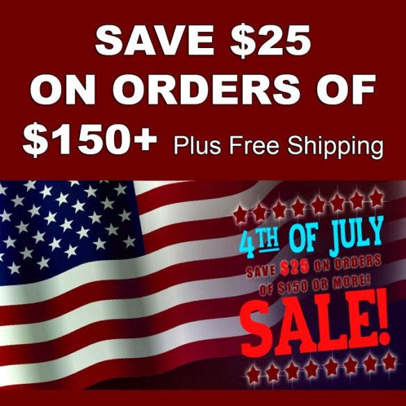 Save $25 On Your Order of $150 and Get Free Shipping