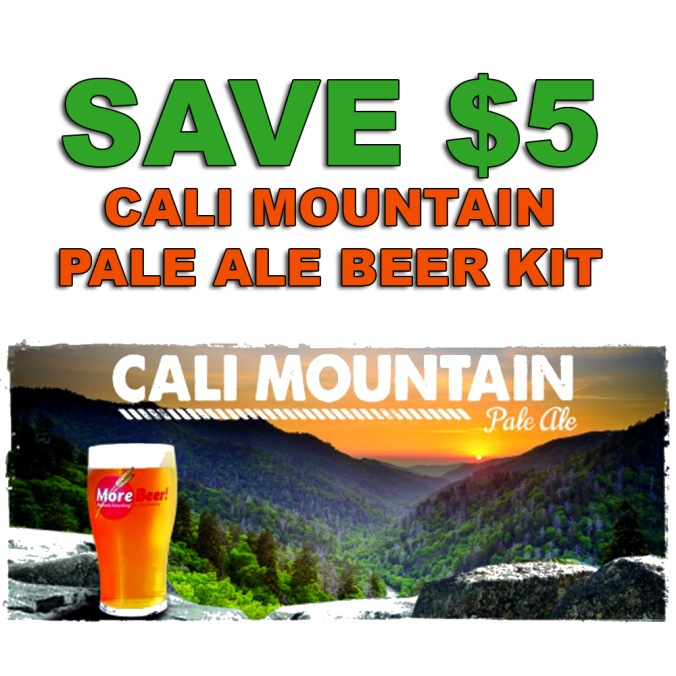 Save $5 On A More Beer Cali Mountain Pale Ale Homebrew Recipe Kit