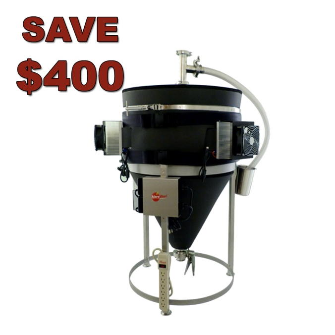 Save $400 on a Temperature Controlled Stainless Steel Conical Fermenter